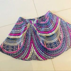 Very J   patterned skater skirt   S